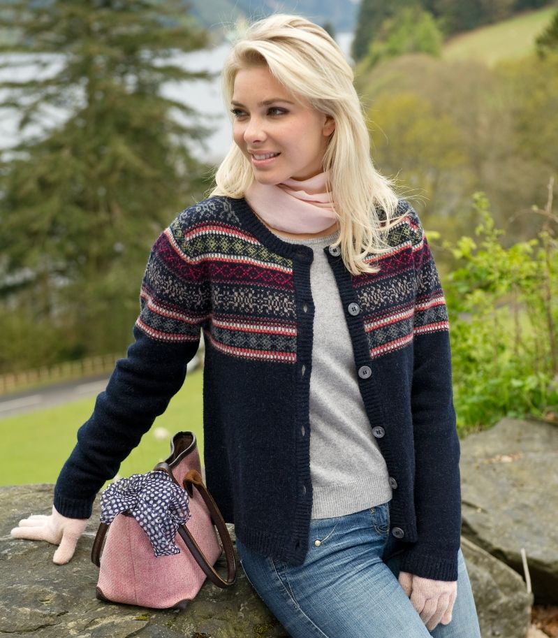 Woman & Art: Lambswool Fair Isle Cardigan | Things to Wear ...
