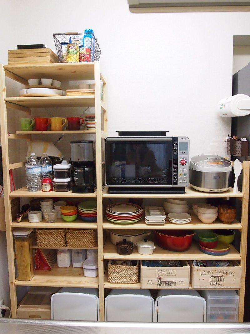 キッチン 無印のパイン材ユニットシェ パイン材ユニットシェルフ ユニットシェルフ 無印 パイン材