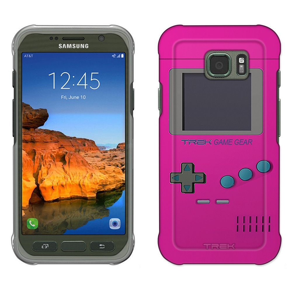 Samsung Galaxy S7 Active Old School Retro TREK™ Game Gear Pink Slim Case