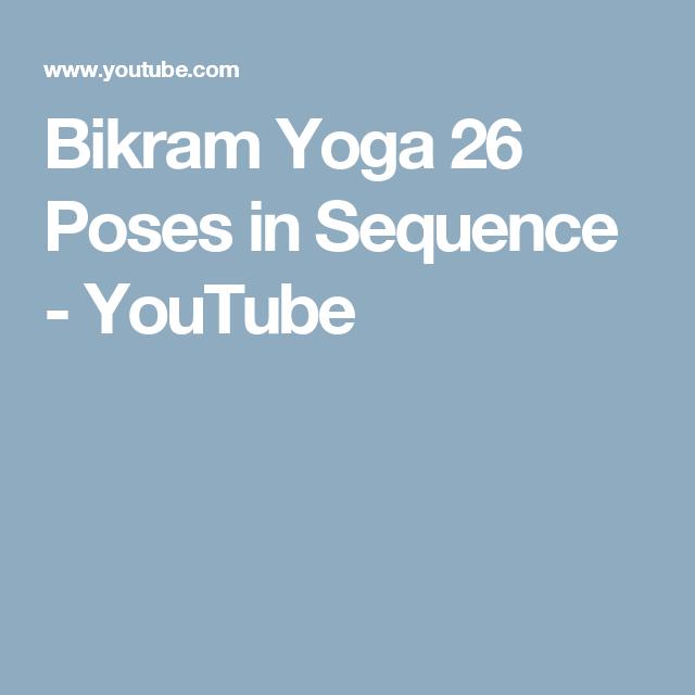 Bikram Yoga 26 Poses In Sequence