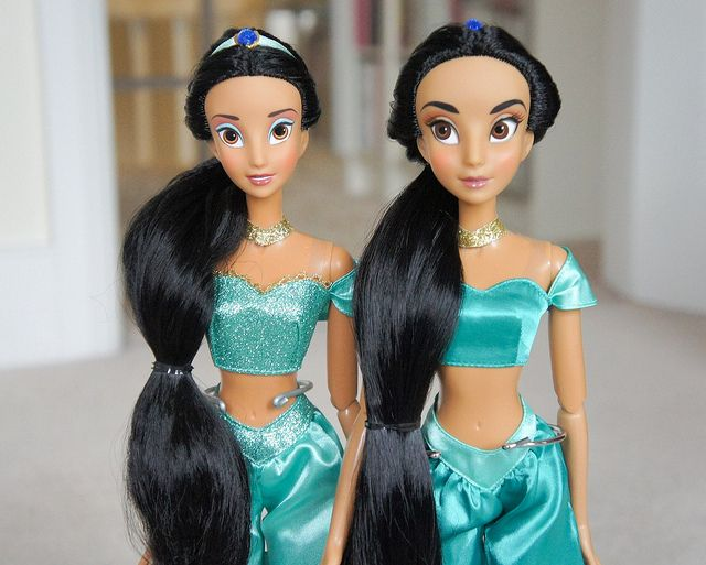 Princess Jasmine 1st and 2nd edition dolls.