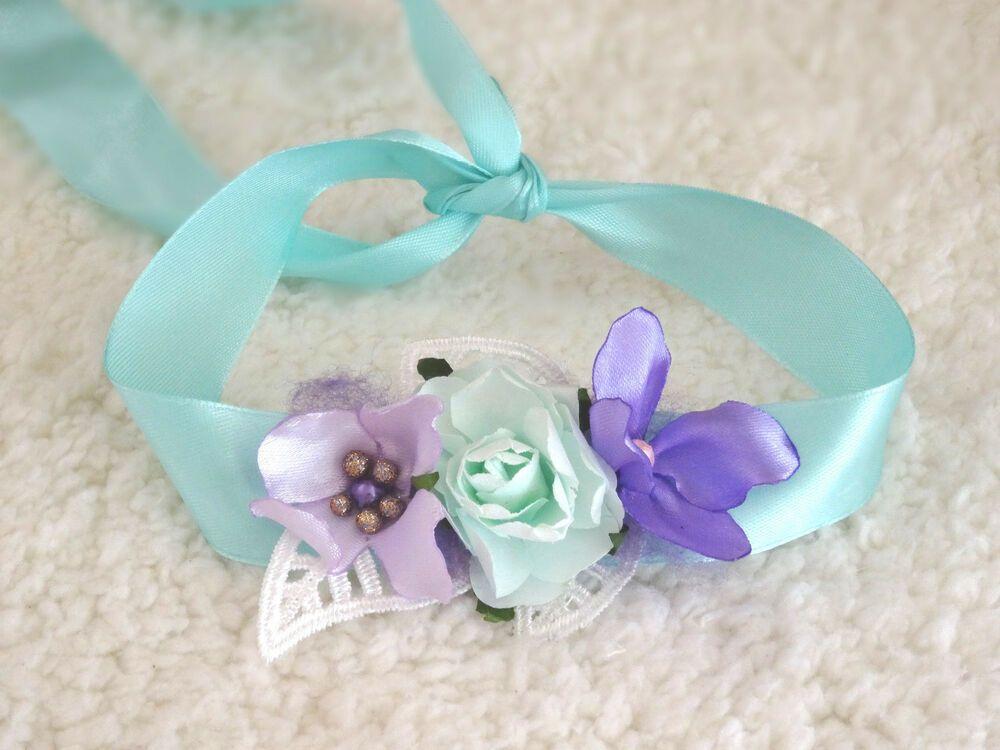 Neugeborenen Stirnband Blumen Mädchen Haarband Taufe Baby