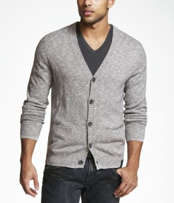 mens gray button down sweater | Lista para el intercambio ...