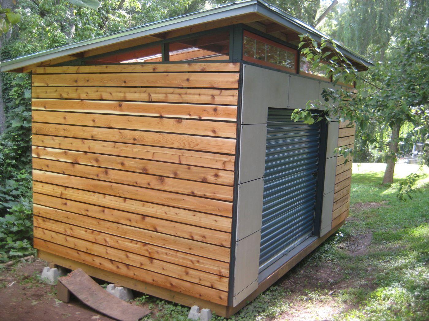 Diy Modern Shed Project Avec Images Cabanon De Jardin Cabane Jardin Abri De Jardin