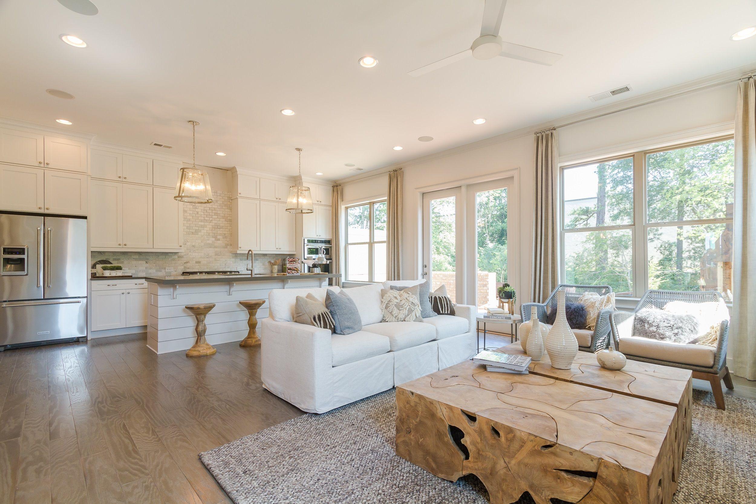 Living Room & Kitchen | Albany Designer Model at Harlow | by ...
