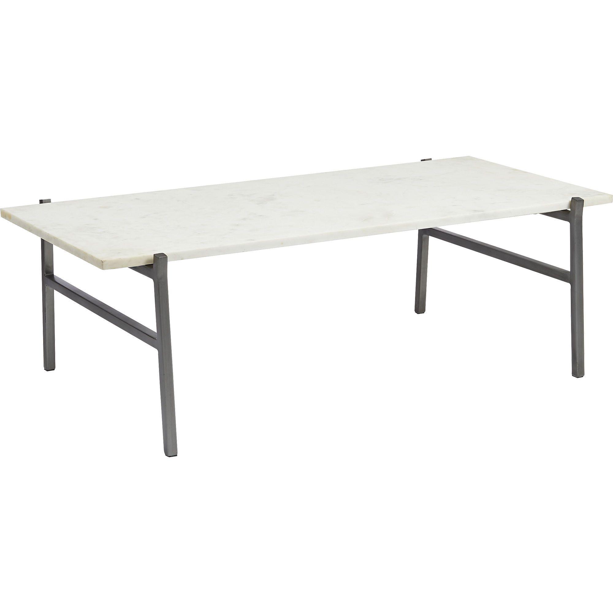 Slab White Marble Coffee Table Reviews Coffee Tables Cb2