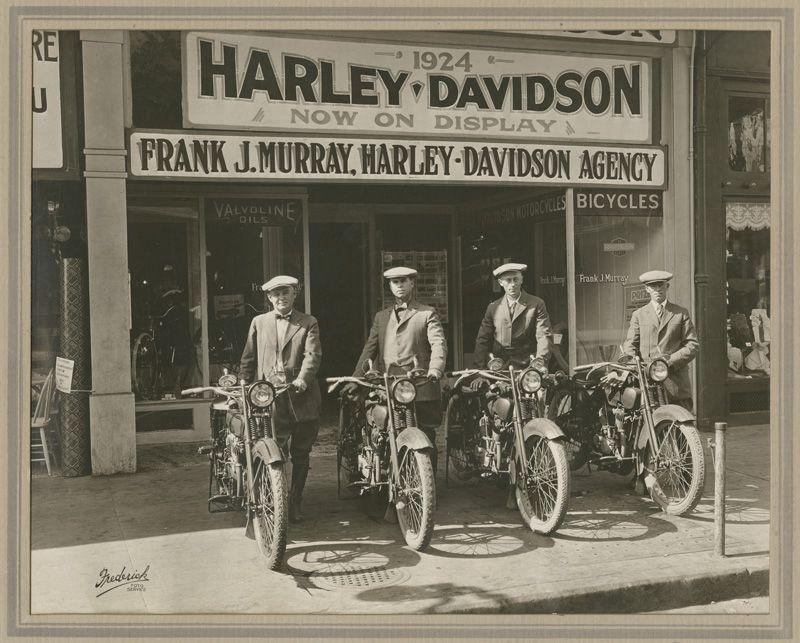 Harley Davidson dealership in Sacramento, California  1923