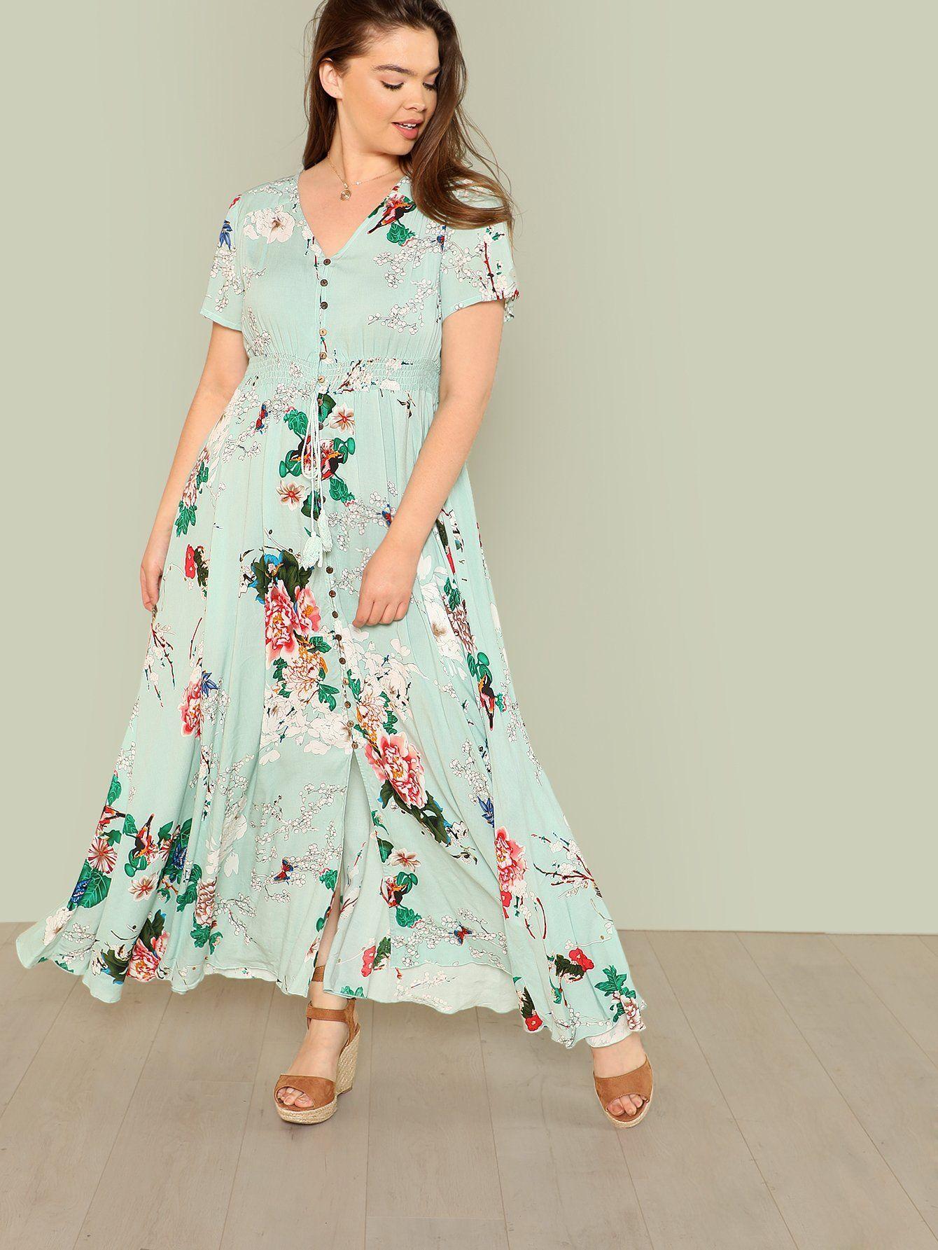 c38958d797c Button Up Fit Flared Floral Dress