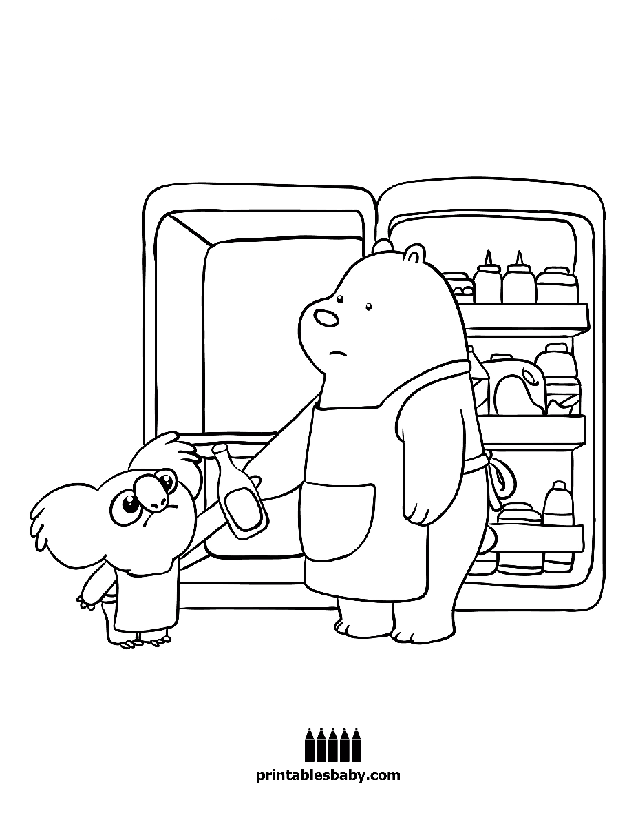 Cartoon Network We Bare Bears Coloring Pages