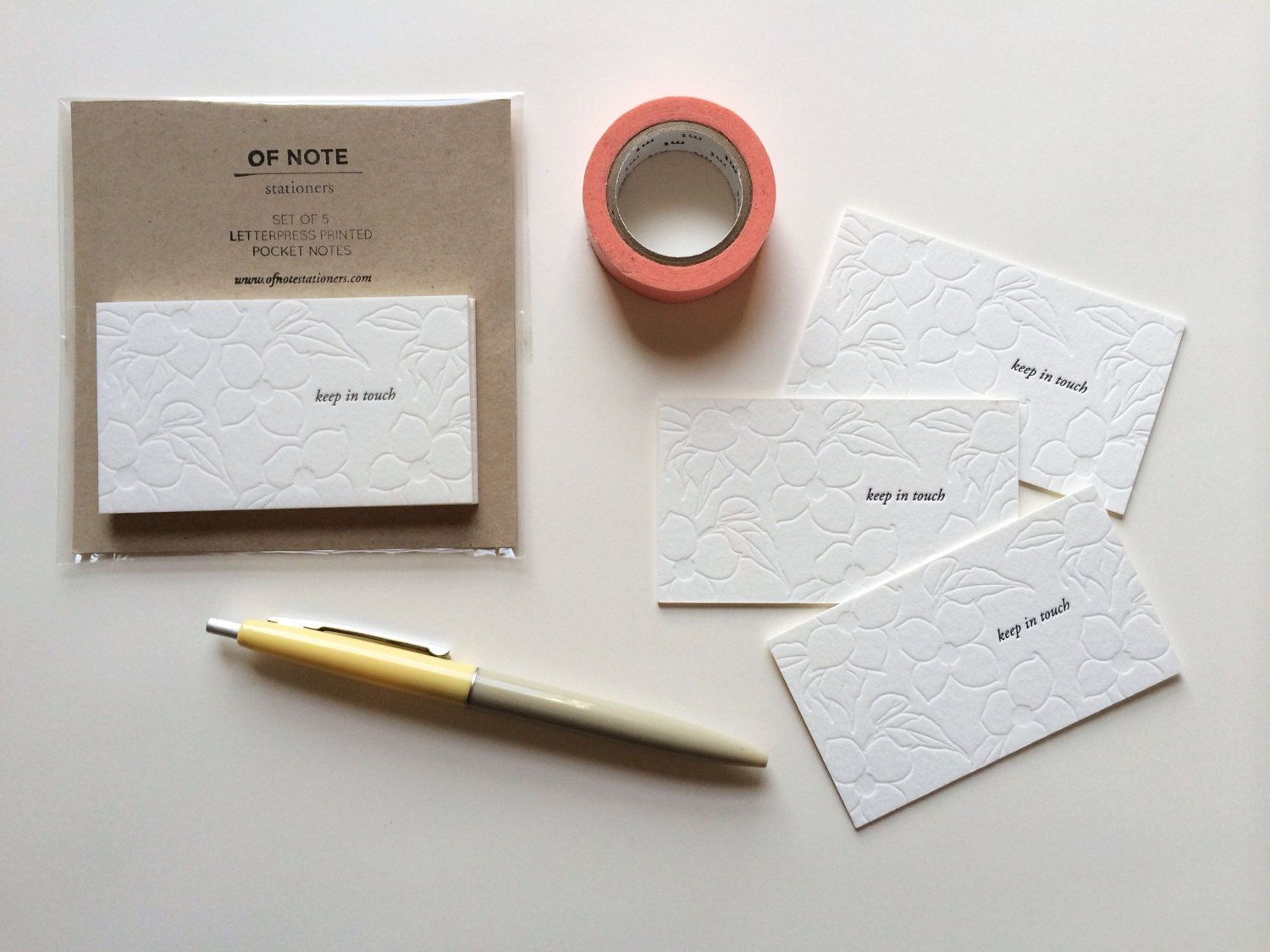 Keep in Touch - Set of 5 Letterpress #Bussiness #Cards - Change of ...