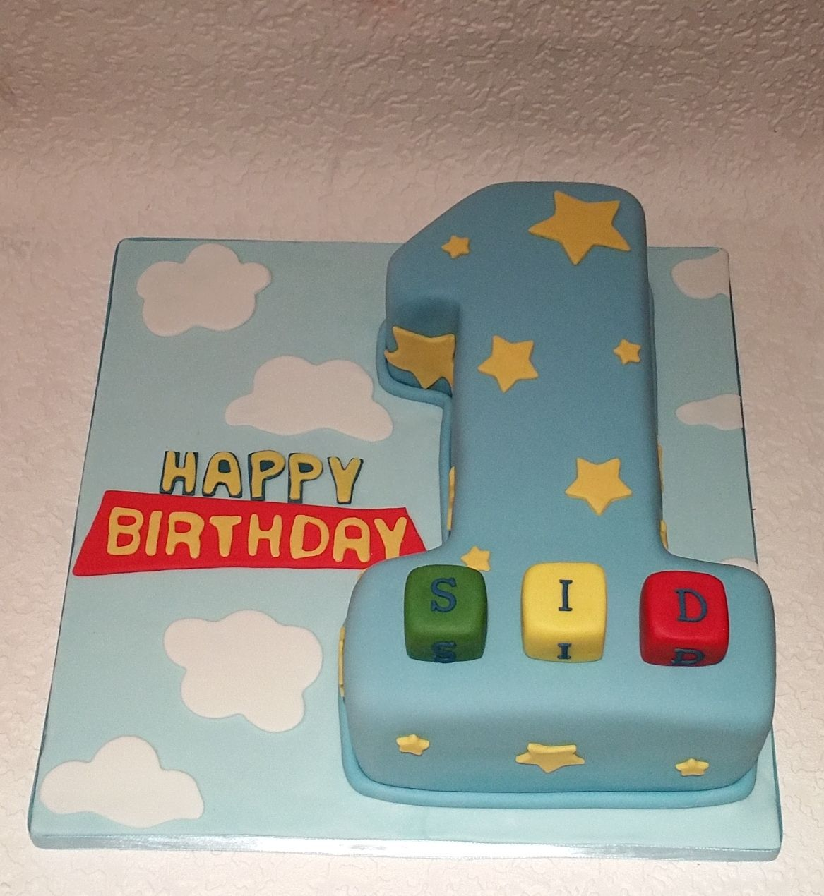 First birthday numeral cake / no. 1 cake Toy Story
