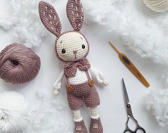 Crochet Amigurumi Bunny Pattern English only | Ets
