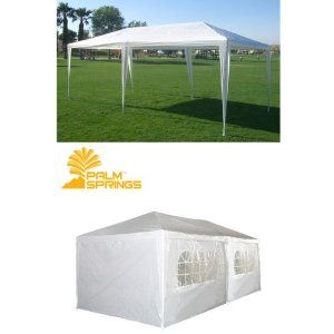Boylymia 10 X 20 Outdoor White Waterproof Gazebo Canopy Tent With 6 Removable Sidewalls And Windows Heavy Duty Tent For Party Wedding Events Beach Bbq All4hi Canopy Outdoor Gazebo Canopy Canopy Tent