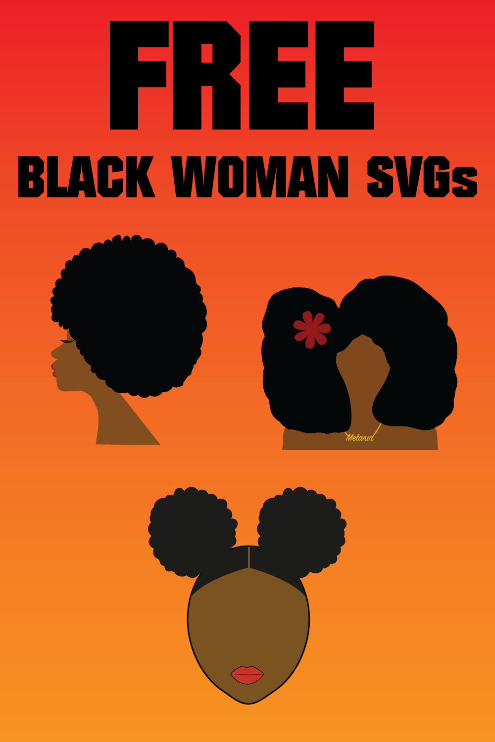 Pin On African American Svg Black Women Cricut Files