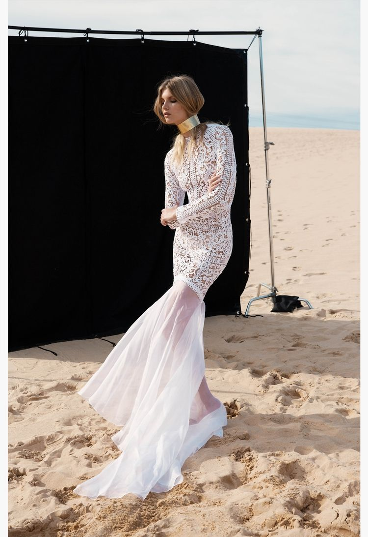 Long sleeve casual wedding dress  BRIDE  ONE DAY BRIDAL  DESIGNER  One Day Bridal  Pinterest