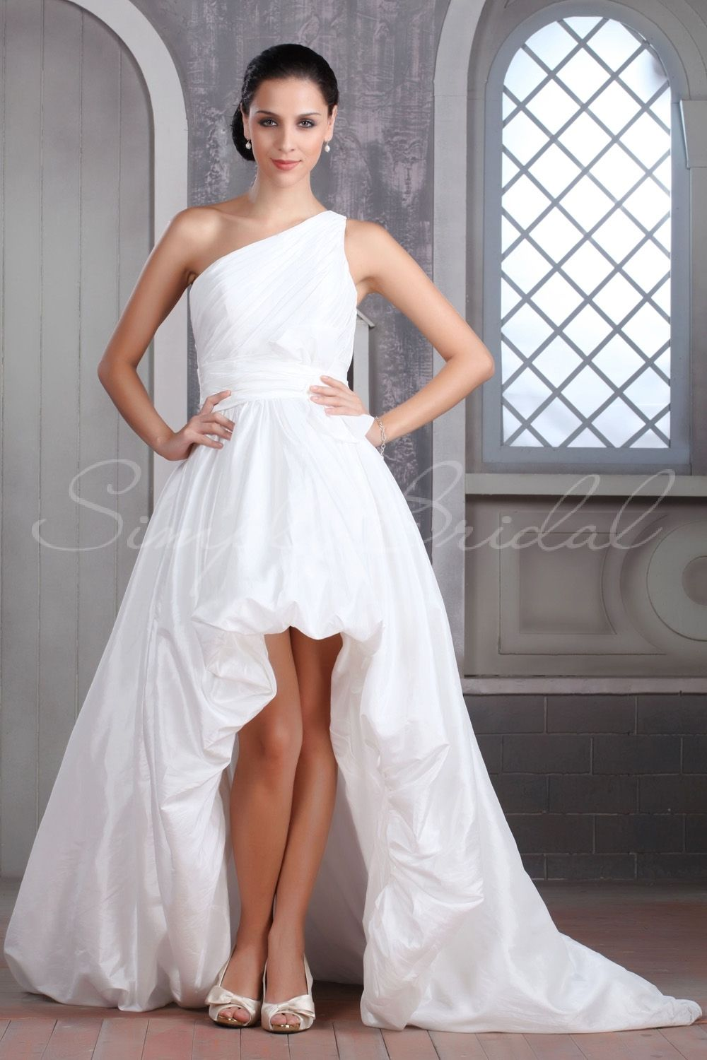 With cowboy boots and with sweetheart neckline instead of one
