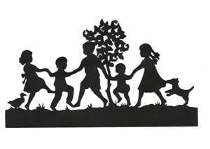 Image Detail for - Children Playing Together Silhouette