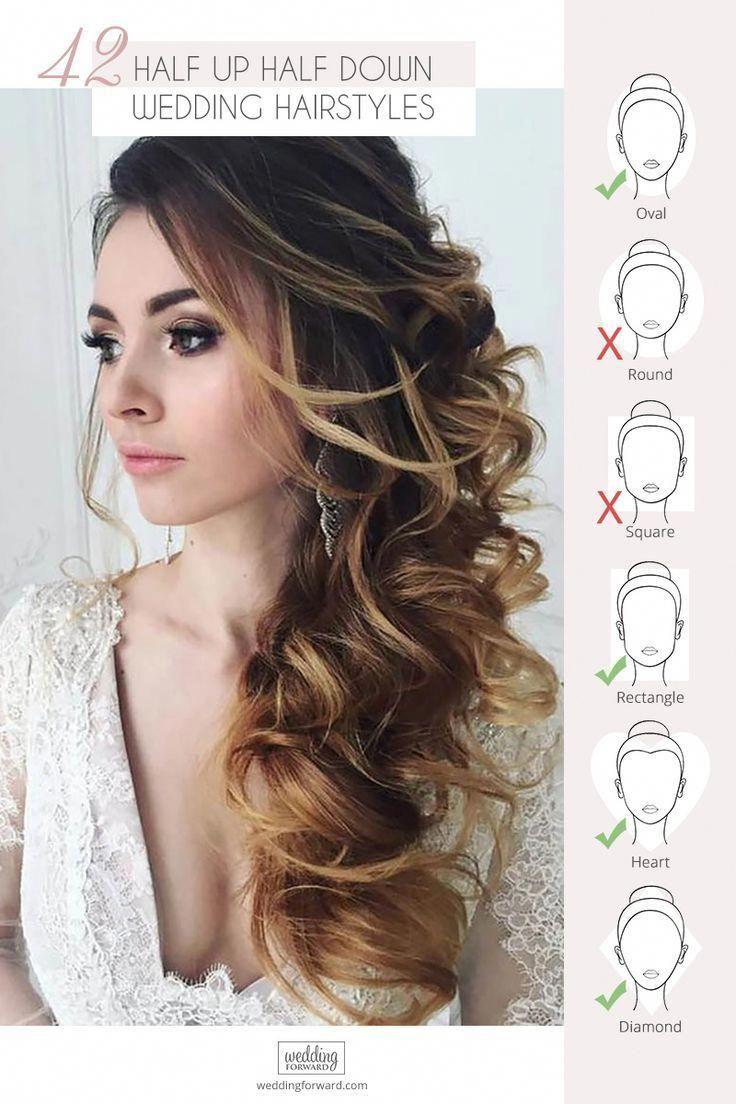 45 Perfect Half Up Half Down Wedding Hairstyles Wedding Forward Bride Hairstyles Wedding Hairstyles Medium Length Wedding Hair Down