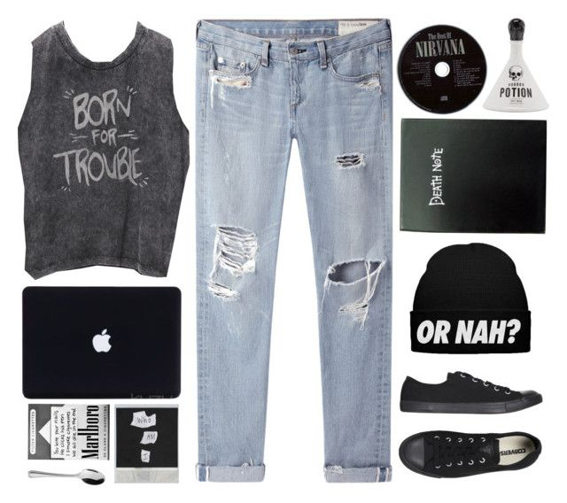 """""""Epik High - Born Hater."""" by nut-and-nude ❤ liked on Polyvore featuring moda, rag & bone/JEAN, Arthur Price i Converse"""