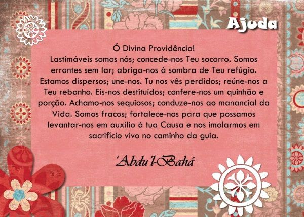 Oração Bahá'í - Ajuda - www.bahai.org.br