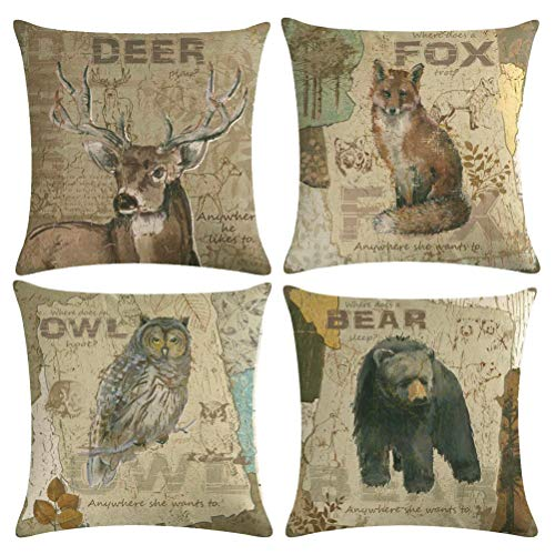 Amazon 10 Best Rustic Throw Pillows Homes Bests Animal Throw Pillows Pillow Covers Linen Pillow Cases