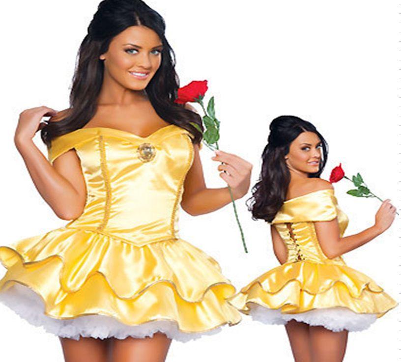 Click to Buy \u003c\u003c New Custom Made Snow White Princess Dress Cosplay - princess halloween costume ideas