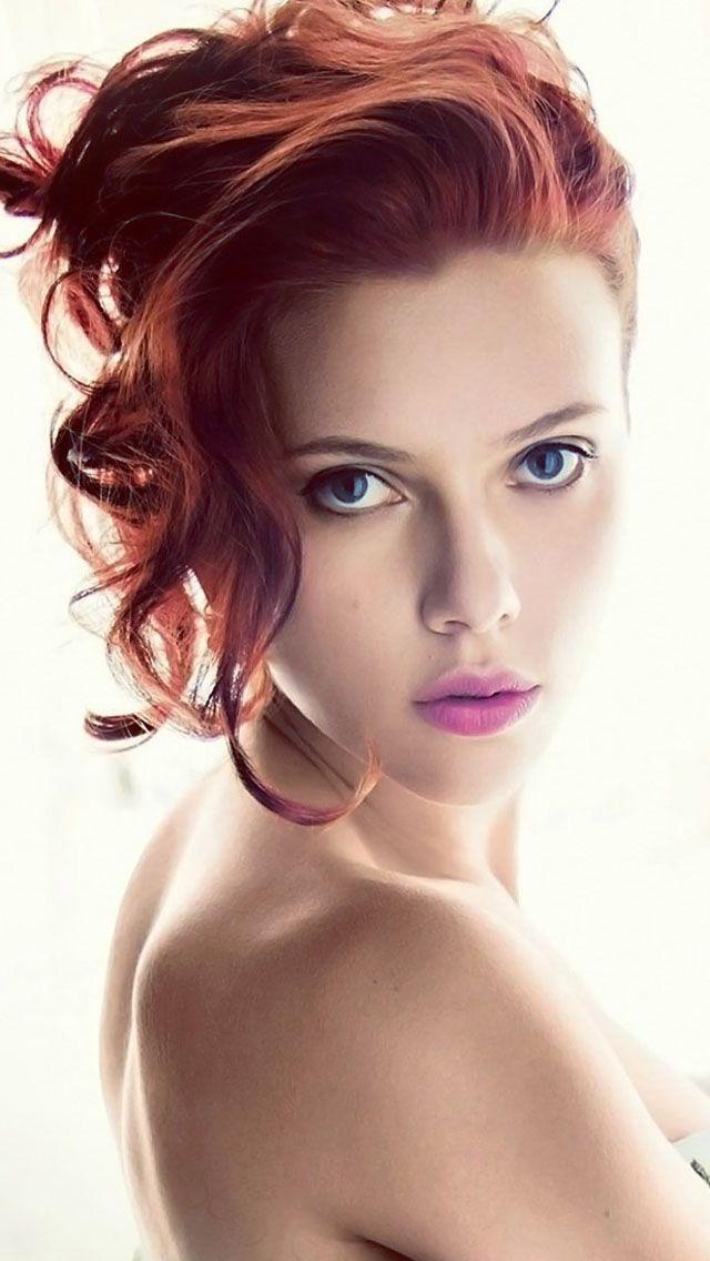 Scarlett Johansson Red Head Iphone 5 Wallpaper Belle Celebrita
