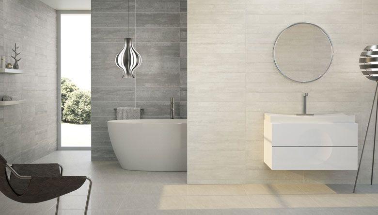 Cuarto de baño diseñado con los nuevos modelos de cerámica ...