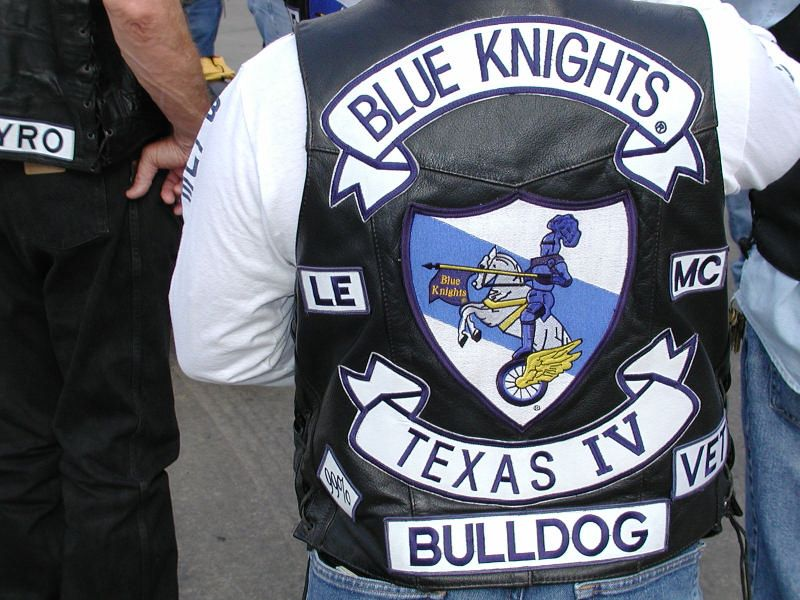 Biker Vest Blue Knights Mc Texas Law Enforcement Club Motorrad Gang Motorradclub Motorrad