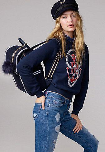 Cotton Anchor Sweatshirt Gigi Hadid | Tommy hilfiger