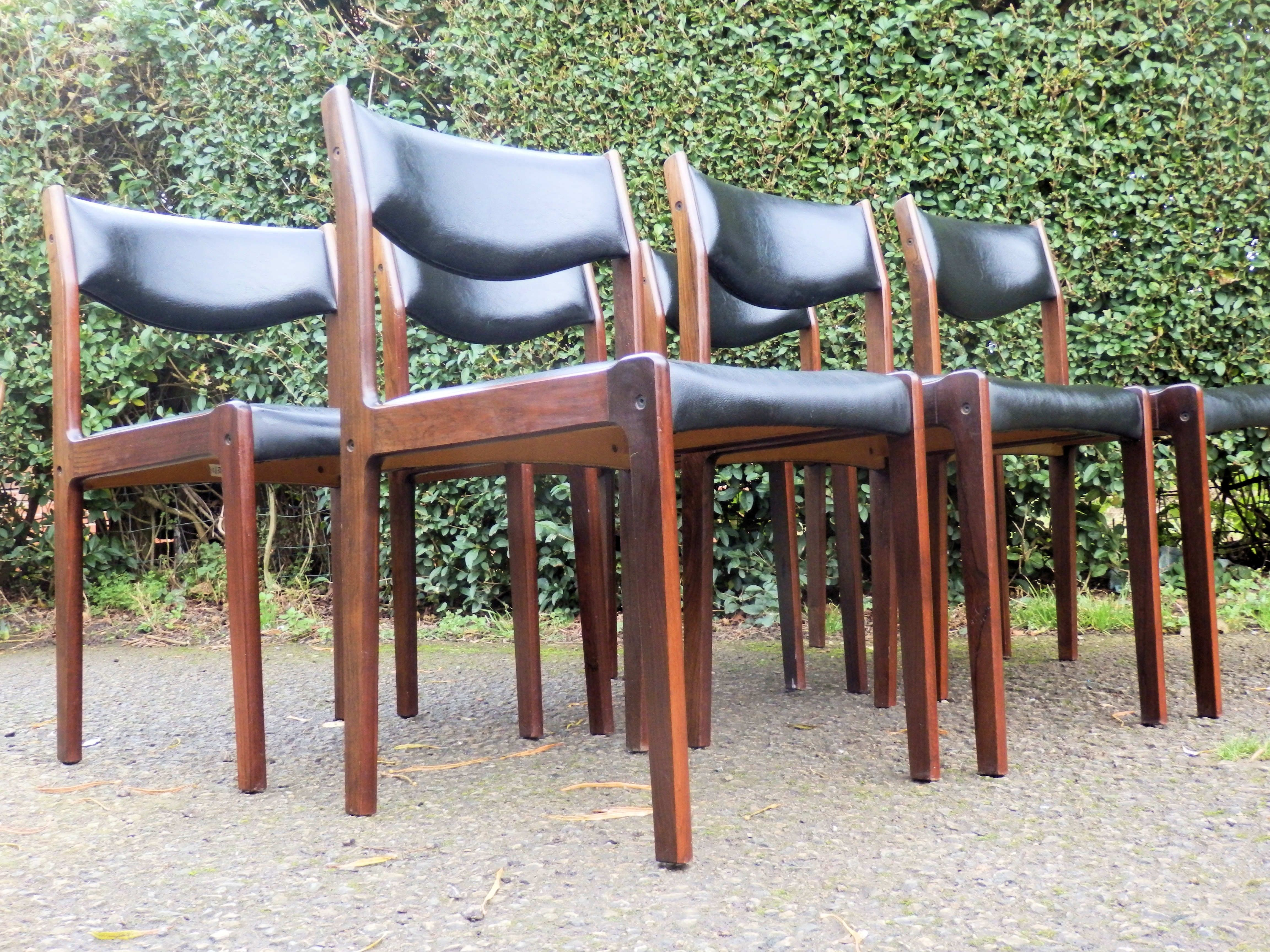 Fabulous Set Of 6 Danish Rosewood Dining Chairs S A X Resin Outdoor Wicker Patio Furniture Sets Soros
