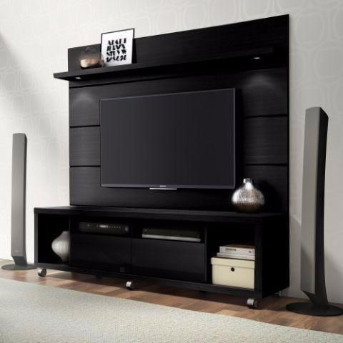 Merveilleux Cabrini 1.8 TV Stand And Panel Black Matte, Entertainment Center    Manhattan Comfort, The Dining Room Table   1