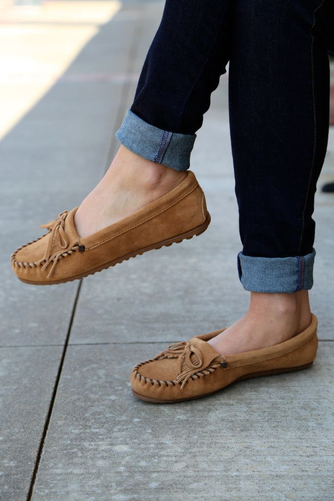 Image result for how to wear moccasin shoe. Moccasins OutfitMinnetonka ...