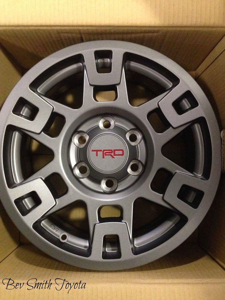 New Toyota Gray Trd Aluminum 17 Inch Wheels 4 Piece Set Ebay 17 Inch Wheels Wheel Toyota
