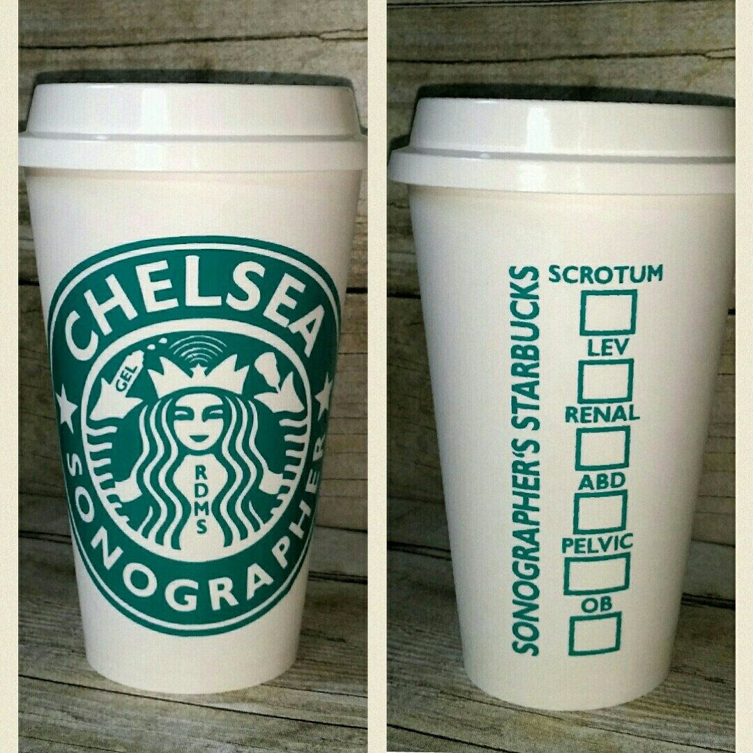 New sonographer reusable coffee cup a humboldt heart pinterest items similar to sonographer coffee cup rdms custom reusable coffee cup personalized sonographer travel mug ultrasound sonogram travel mug on etsy negle Images