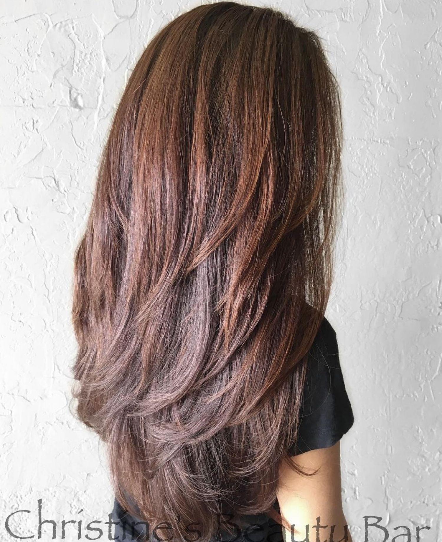 9 Süße geschichtete Frisuren und Schnitte für langes Haar hair in