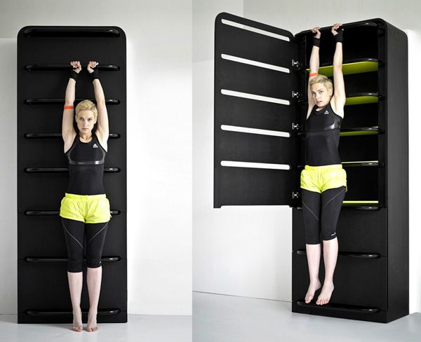 Small Room Storage Ideas For Your House: Marvelous Modern Style Fitness  Small Room Storage Ideas