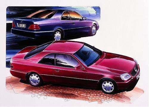 OG   1992 Mercedes-Benz CL - C140   Design sketch