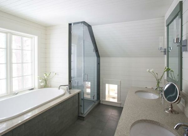 Ideen Badezimmer Mit Dachschrage Eckduschkabine Badezimmer Design Badezimmer Dachschrage Traditionelle Bader