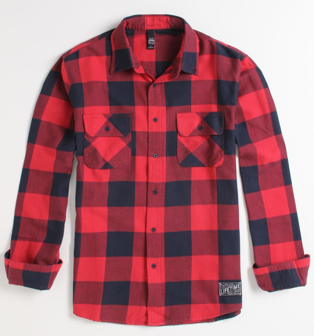 Womens Red Buffalo Plaid Flannel Shirt 7a2c46b61bb
