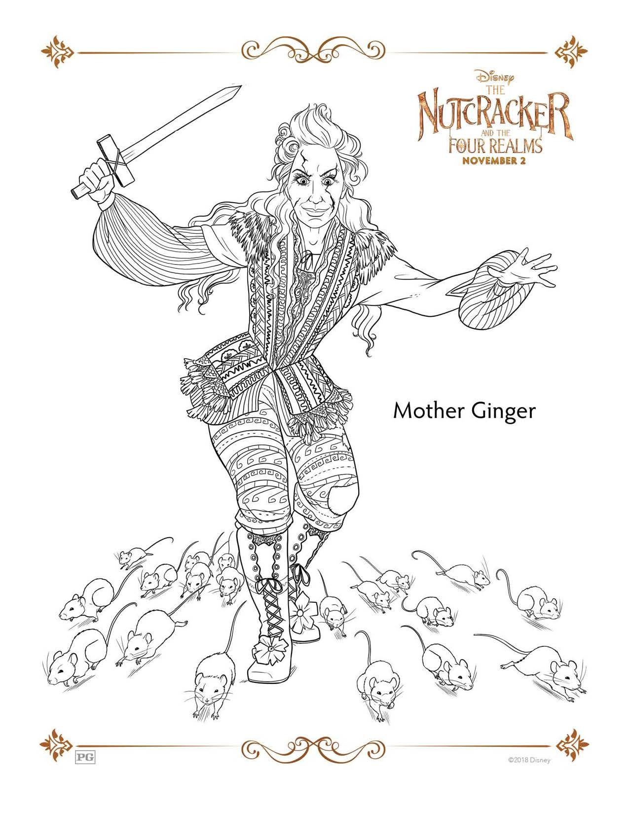 Nutcracker coloring page disneyus the nutcracker and the four
