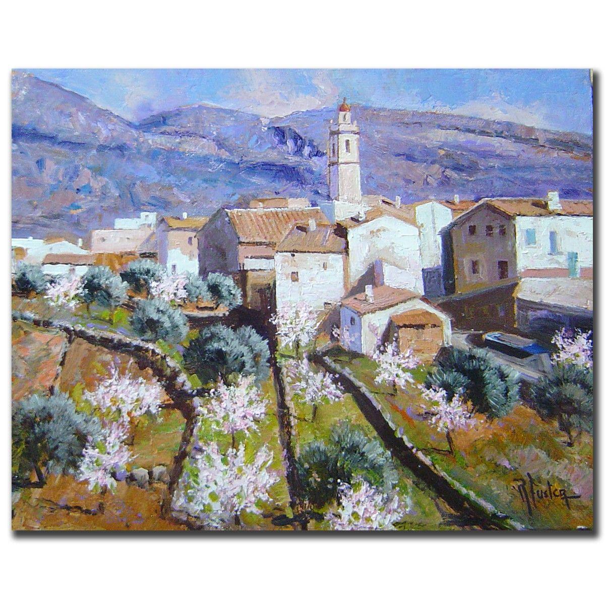 Galeria De Pintura Al Oleo: Cuadros De Paisajes Al óleo. Magnifica Pintura De R.fuster
