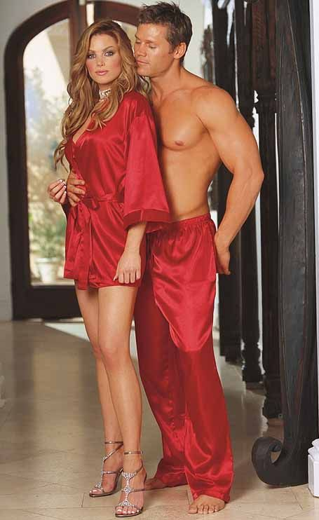 Red Charmeuse Satin Pyjama Trousers by Dreamgirl. Sexy Robe Charmeuse  Babydoll   3717 Mens Silk ... 7ff8dcfe7