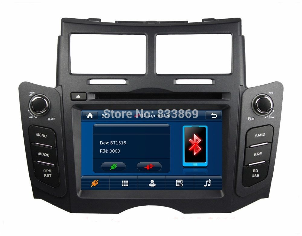 Hd 2 Din 6 2 Car Dvd Gps For Toyota Yaris 2005 2006 2007 2008