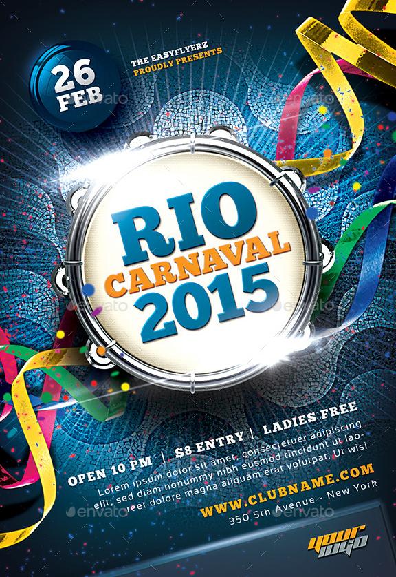 Best 20 Mardi Gras Party Flyer Templates PSD Best 20