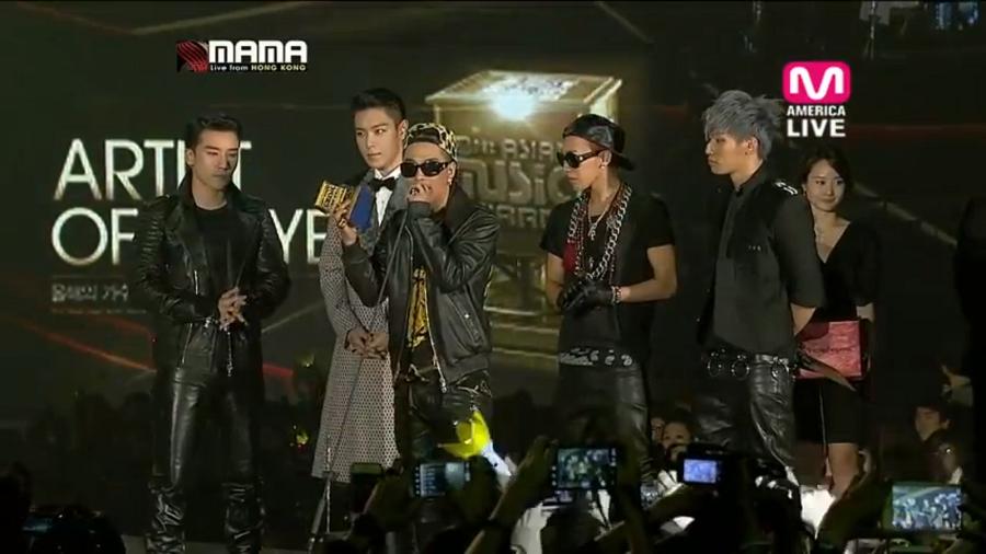 Best Artist of the Year 2012 MAMA awards (Hong Kong)