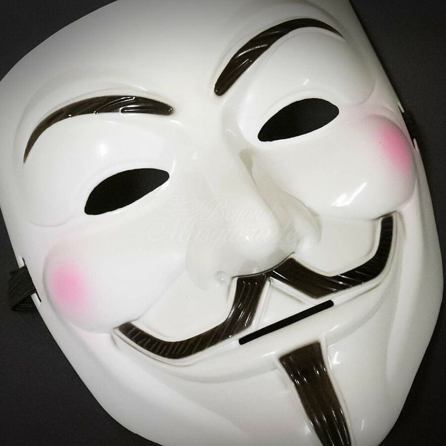 1 V for Vendetta Masquerade Costume Halloween Guy Fawkes Mask for Men