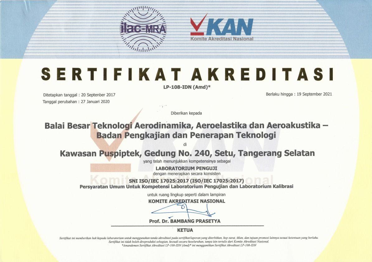 sertifikat akreditasi KAN laboratorium bbta3