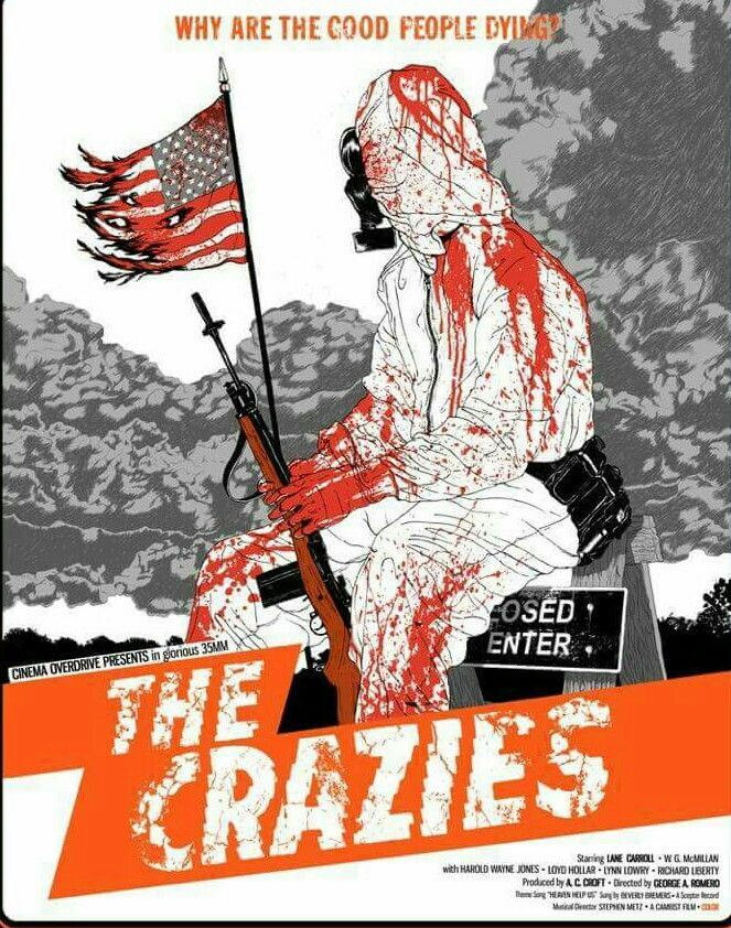 The Crazies Horror Movie Poster George Romero  Horror Fan Poster