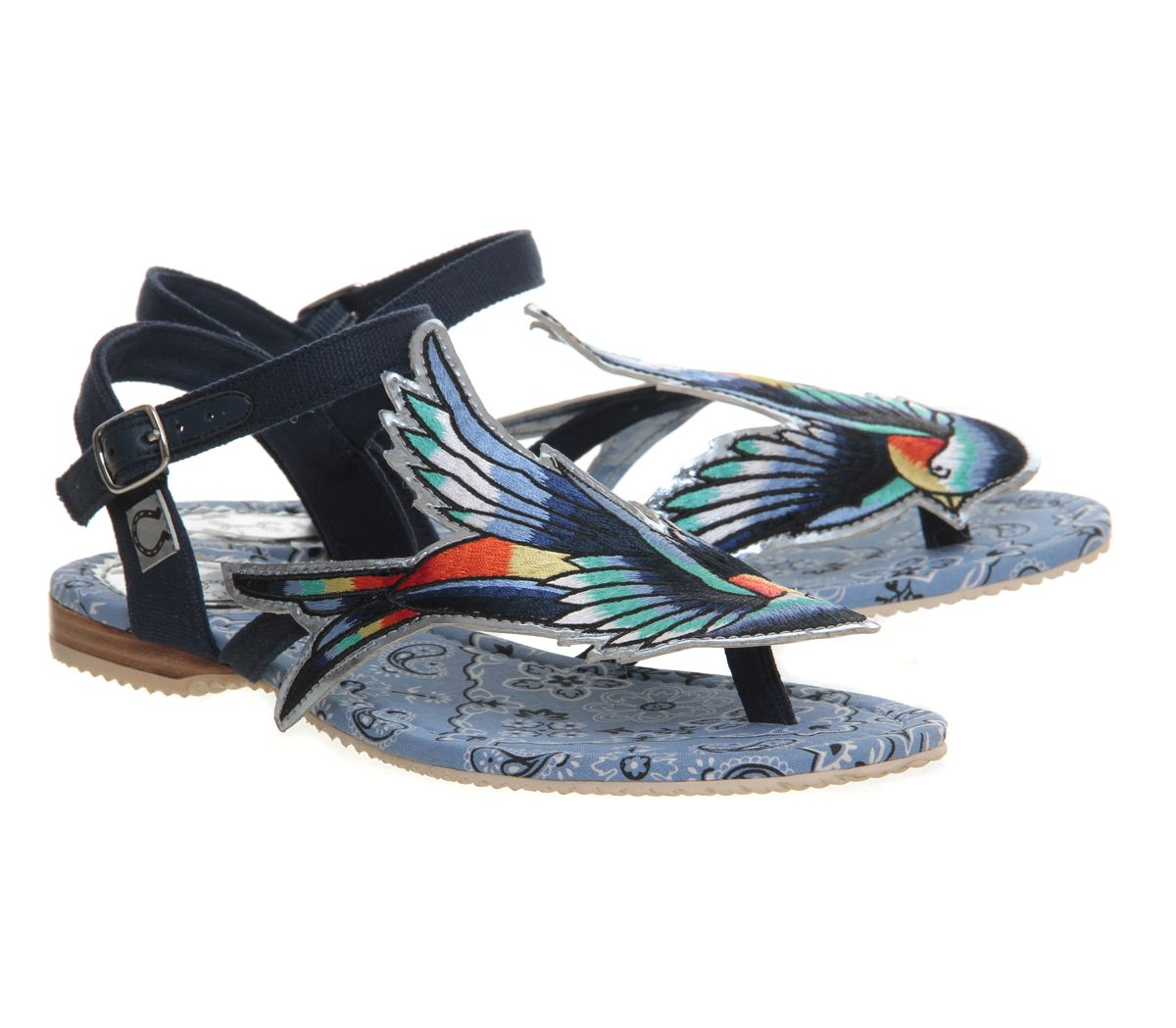 Vegan bluebird sandals from Miss L Fire at OFFICE.co.uk